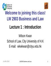 LW2903 Business Law 1(1)
