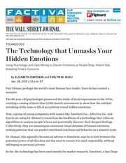 The Technology that Unmasks Your Hidden Emotions - WSJ