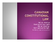 Canadian Constitutional Law-lecture