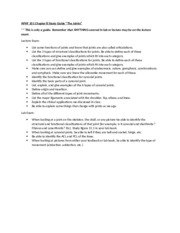 APHY 101 Chapter 8 Study Guide 2015
