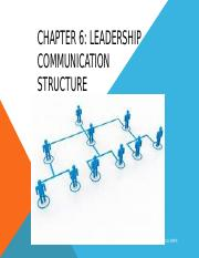 Chap 6 Leadership Comm Structure.pptx