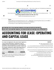 Accounting For Lease_ Operating and Capital Lease _ Accounting, Financial, Tax