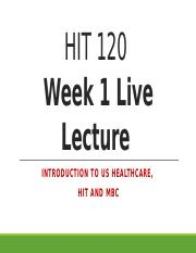 HIT 120 Live Lecture Week 1