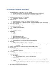 Anthropology Final Exam Study Guide