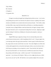 Crucible character analysis essay (1)