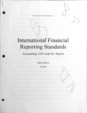 International financial reporting standards essay