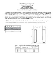 Exam 2 Fall 2012 Problems on Reinforced Concrete Design