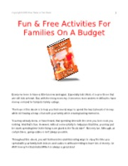 Fun Free Activities For Families On A Budget