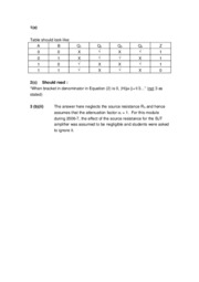 H62ELD 2006-7 Correction to Solutions to Questions Q1(e), Q2(c) and Q3b(ii)