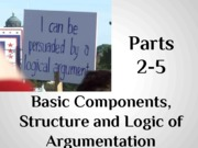 part 2-5 basic components, structure and logic of argumentation