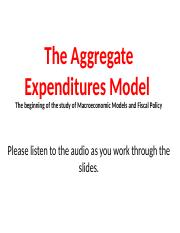 4P The Aggregate Expenditures Model.pptx