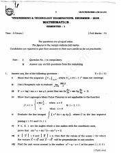 (www.entrance-exam.net)-WBUT Instrumentation Engineering 1st Sem Mathematics-1 (M101) Sample Paper 1