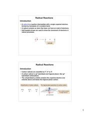 Radical Reactions Notes 1_31_12