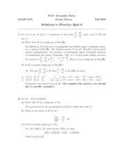 Math 3175 Practice Quiz 6 solutions