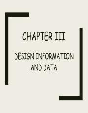 PED Chapter III -Design information & Data.pdf