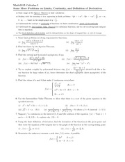 Q_Limits, continuity and definition of derivatives