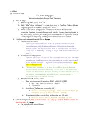 the yellow wallpaper essay outline