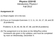 PHYS 1210-02 Lecture Notes - Back and Forth, Back and Forth - Makes the World Go Round