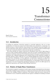 Chapter 15. Transformer Connections