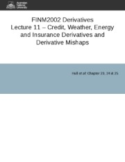 Lecture 11 - Credit, Weather, Energy and Insurance Derivatives.ppt