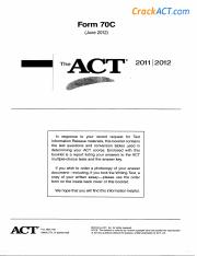 Act 201206 Form 70c Www Crackact Com Useful Links Act Online Practice Tests Http Www Crackact Com Act All Tests Html Act English Tests Course Hero Answer explanations for released act tests the act official guide practice test explanatory answers pdf download. act 201206 form 70c www crackact com