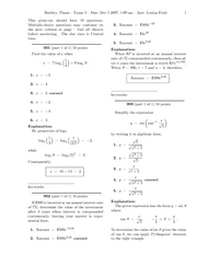 Calculus 408K Exam 3
