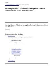 Nursing Homes  Efforts to Strengthen Federal Enforcement Have Not Deterred ...  EBSCOhost.htm