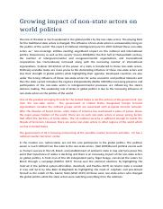 Growing impact of non state actors on world politics.docx