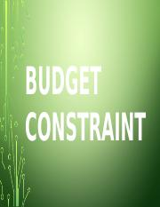 Budget constraint,Anora.pptx