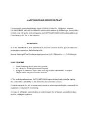 MAINTENANCE AND SERVICE CONTRACT.docx