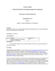 DSP Lab Manual Experiment no 8
