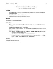 100W S10 - Rough Draft Peer Editing Assignment