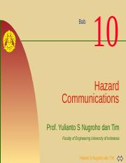 K3L Bab#10 Hazard Communications.pptx
