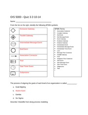 OIS 5000 Quiz 3 2-10-14 - Answer Key