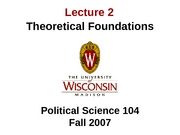 Lecture 2 - Theoretical Foundations 0907