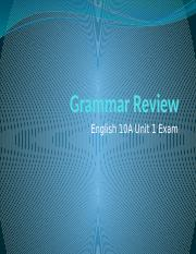 English 10A final exam grammar review pdf - Choose the word