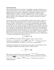 Infinite Dimensions notes