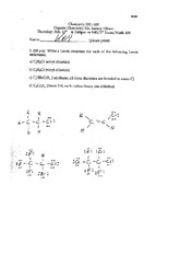 Exam 1 Spring 2003 Solution on Organic Chemistry 1