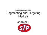 Segmenting and Targeting Markets w/ Student Notes