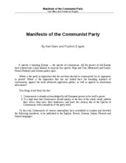 Marx_The Communist Manifesto_selections