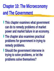 ECN 203 (10), The Microeconomy and The Government.ppt