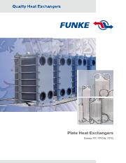 2 funke plate heat exchangers
