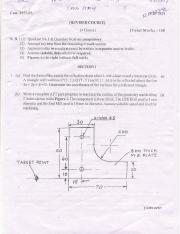 (www.entrance-exam.net)-Mumbai University-BE in ME-7th Sem CADCAM & Finite Elements Analysis Sample