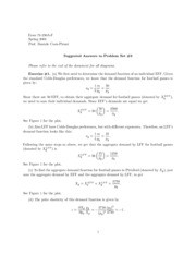 Microeconomics Problem Set #3 Answers