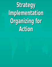 (8) Strategy Implementation, Organizing for Action.ppt