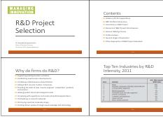 L04 - R&D Project Selection