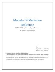 Module-14 Mediation Reflection.docx