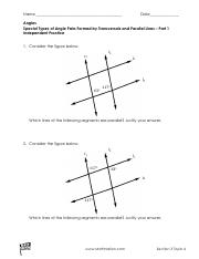 Special Angle Pairs 2