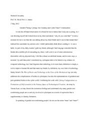Gender and Cyborg final paper