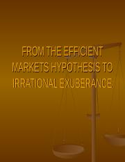 FROM THE EFFICIENT MARKETS HYPOTHESIS TO IRRATIONAL EXUBERANCE.ppt